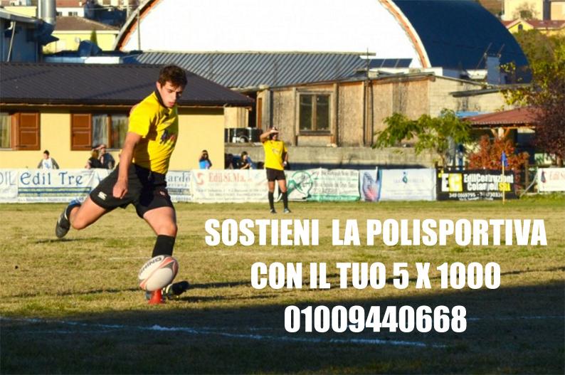 Il tuo 5 per mille a sostegno della Polisportiva Paganica Rugby 1969